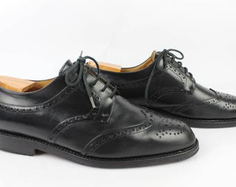 Vintage Derby HARDRIGE DRAKE black Uk 10.5 Goodyear leather / Fr 45 very good condition (1747)