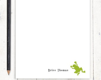 personalized notePAD - FROG - kids stationery - stationary - nature lover gift - boys notepad - girls notepad - choose color