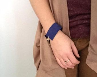 Gena Royal blue leather bracelet