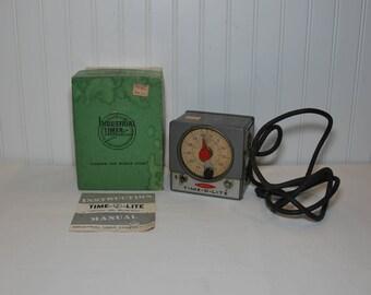 Vintage Working Time-O-Lite P-59 Master Dark Room Timer (c. 1950's?) Industrial Timer Corporation, Vintage Dark Room, Industrial Decor