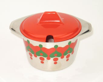 Vintage 70s marmalade pot
