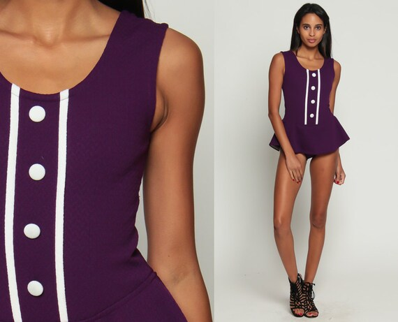 60s Romper Woman Mod Onesie Playsuit Dance Costume Outfit Gogo