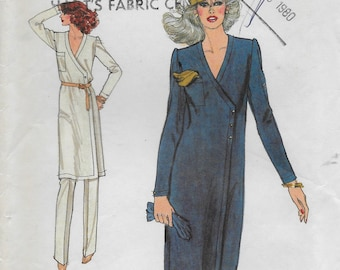 Vogue 7429 Misses' 70s Front Wrap Dress Sewing Pattern Size 14 Bust  36