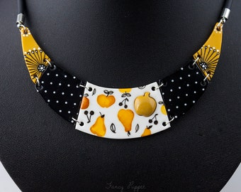 Apple Pear and Cherry Necklace