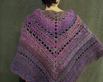 Crochet Shawl,Accessory,Shawls and Wraps,Purple Shawl,Women,