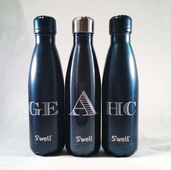 New Gem Collections Monogram Swell Bottles - Sorority, Bridesmaid, Birthday, Christmas, Workout, Yoga, Greek Swell Bottle