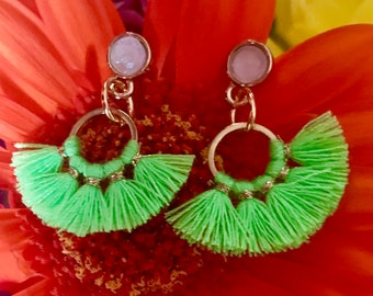 Summertime Tassel Earrings - Available in 4 different colours