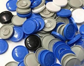 Flip off vial caps for crafts-100 pieces of 30 mm caps