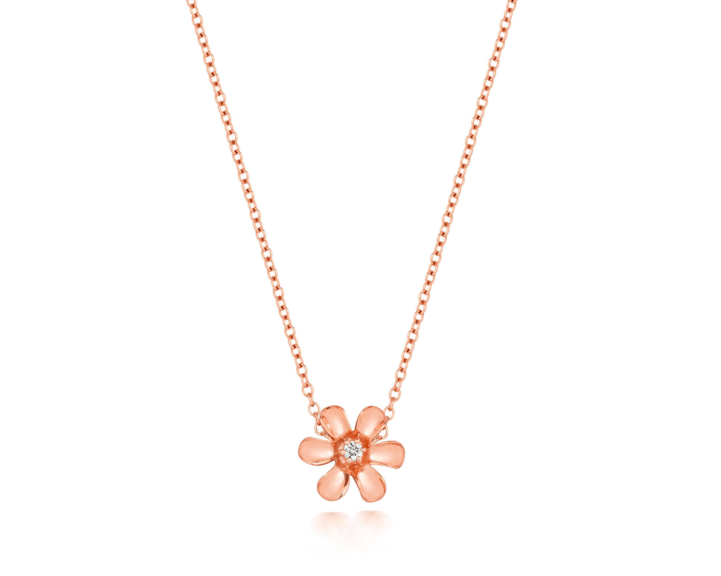 along plain heart chain products rests pendant by and necklace the polished bloom locket thai cable details full pn daisy created sterling necklaces is a striking silver presents in