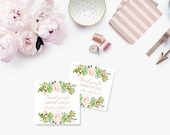 Printable Bridal Shower Gift Tags / Customized Favor Tags, Thank You Tags  - Monica Rose Tags