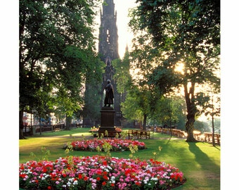 Princes Street Gardens & The Scott Monument, Edinburgh