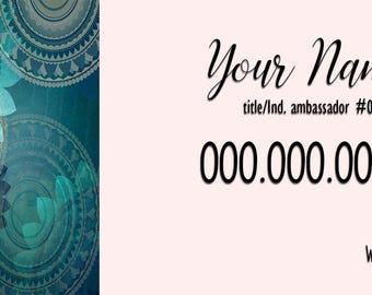 Blue Mandala Business Card