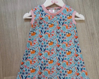 Sloths and Tucans Dress