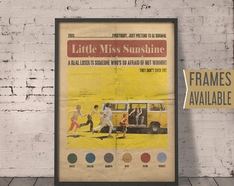 LITTLE MISS SUNSHINE Print Classic Movie Film Quotes Wall Art Print Little Miss Sunshine Alternative Film Poster Inspirational Quote Gifts