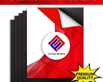 Adhesive Backed Magnet - Craft Magnetic Sheet - Make your own magnets!! 8.5x5.5 inches.
