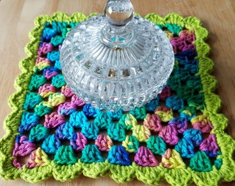 """Crochet Granny Square 8.5"""", Dining table decorations, Party decorations"""
