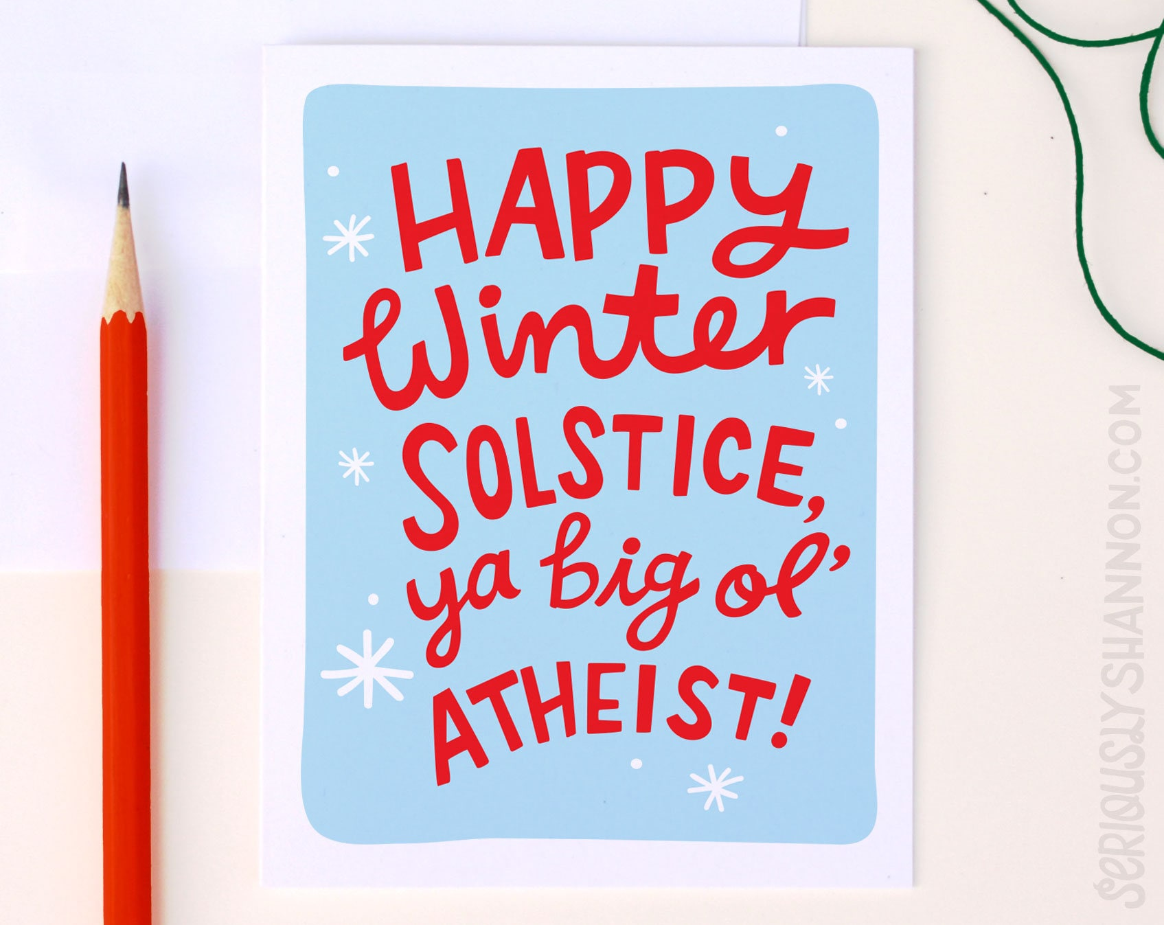 Atheist holiday card funny winter solstice card funny description atheist holiday card kristyandbryce Gallery