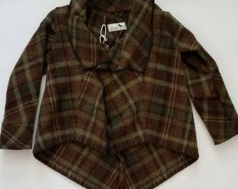 Children's Green and Brown Vintage Wool Jacket
