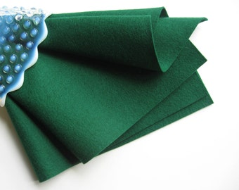 Evergreen Felt, Pure Merino Wool, DIY Craft Supply, Dark Green Felt, Choose Size, Waldorf Crafts, Die Cutting, Wool Applique