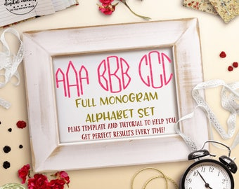 Monogram Alphabet svg, Circle Monogram svg for Cricut, Monogram Cut File, Monogram Font svg, Monogram Template,dxf, Cut Files for Silhouette