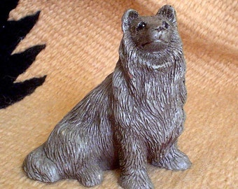 Collie Figurine w/ID Mark, Date & Number / Dog Figurine / Collie / Sheltie / Dog Gifts / Resin Dog Figurine / Lassie / Collectible Dogs /Pet