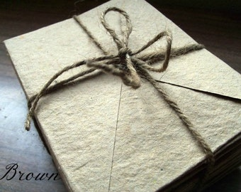 WHOLESALE ORDER 150 envelopes, 4x5 inch envelopes, handmade paper, recycled paper, eco friendly, homemade paper, bulk stationery, brown
