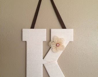 Yarn Wrapped Letters (Large 1 letter)
