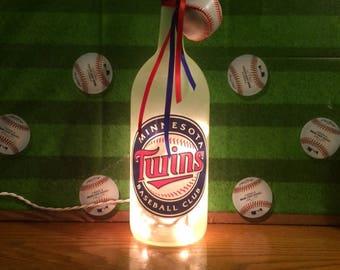 Minnesota Twins 1.5 Liter Lighted Wine Bottle