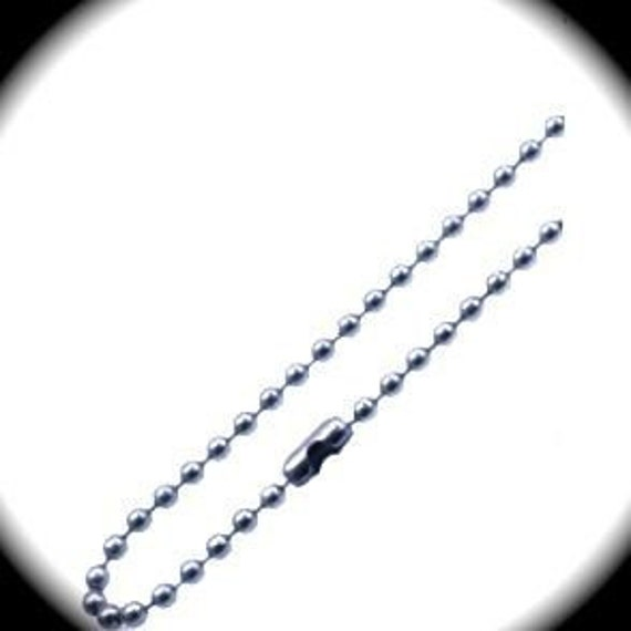 """20 Chains - 2.5mm Stainless Steel Ball Chain 30"""" Long 316L Surgical Steel Chain - QTY  20"""