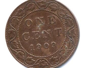 1-Cent Large 1909 (Edward VII)