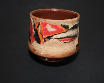Ceramic tea cup Mokume gane 58