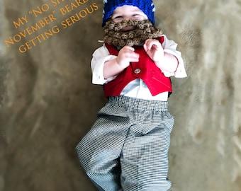 Crochet beard hat (no shave November awareness)