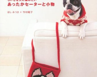 SWEATERS FOR DOGS Japanese Craft Book pattern knitting Small dog Medium dog Doggy sweater bag List Warmer Accessories