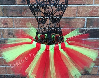 Red and green tutu, Christmas tutu, holiday tutu, Robin tutu, Christmas photo tutu, Christmas skirt,