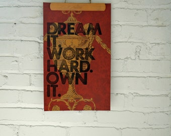 Real Letterpress Print Song Lyrics on Fancy Wallpaper Sample Page Hang it on your wall