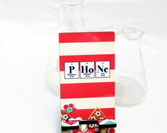 Custom Phone Stand - Science, Geek, Nerd - Periodic Table of Elements - Gift Idea