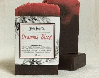 Handmade Vegan Craft Beer Soap - Dragons Blood