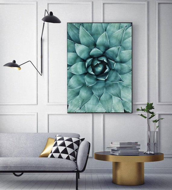 50 off cactus succulent print wall art modern poster modern for Instant interior wall