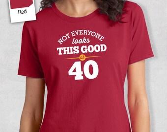 40th Birthday, 40th Birthday Idea, Great 40th Birthday Present, 40th Birthday Gift. 1977 Birthday, 40th Birthday Shirt, Women's Crew Neck!
