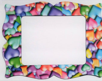 Hearts Refrigerator Photo Frame Magnet.  Will hold a 5x7 Picture. Picture Frame Magnet.