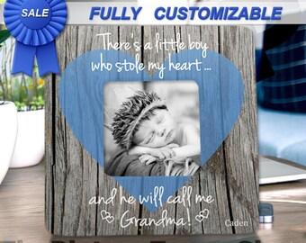 Grandma Gift From Grandson Baby First Time Grandma Nana Gift Frame There's This Boy Grandma Mothers Day Gift Frame Grandma Nana Reveal Gift
