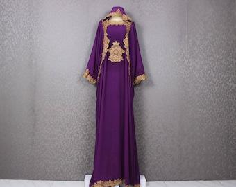 Purple wedding dress   Etsy