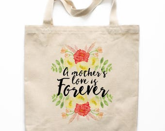 Mother's Day Gift Tote Bag, Mother's Day Canvas Bag, Canvas Tote Bag, Printed Tote Bag, Market Bag, Shopping Bag, Reusable Grocery Bag 0134