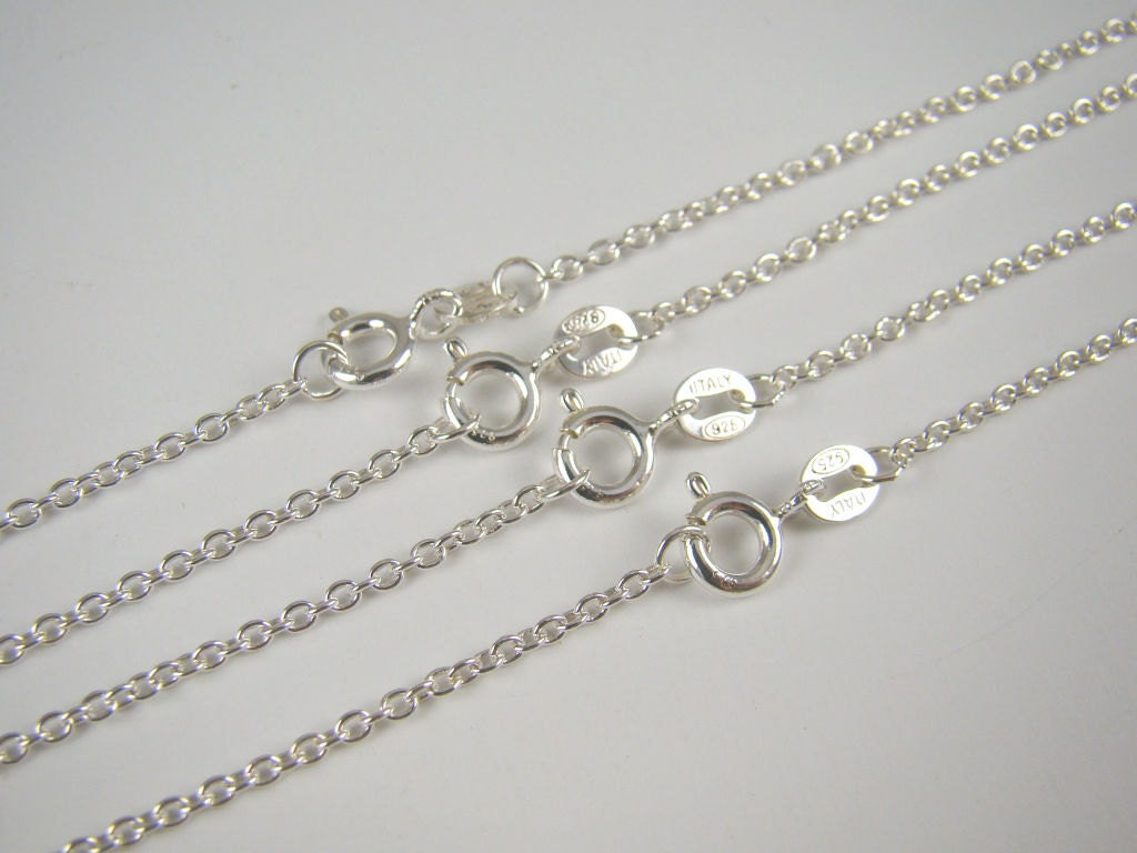plated strong flat chain chains bulk wholesale cable silver foot unfinished per sterling sold gold