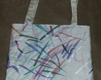 Grocery shopping tote bag  reversible tote bag handmade book bag  shopping bag reusable grocery bag craft tote affordable not cheap