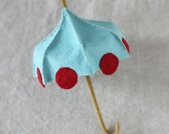 Felt Umbrella PDF pattern, unbrella pattern, DIY sewing, hand-stitching