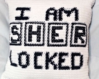 Pattern Only, Crochet Sherlock Pillow Case Pattern, Tutorial, Sherlocked Crochet Decorative Pillow Cushion Cover
