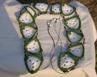 Crochet Handmade Cotton Triangle All-Seasons Belt ON SALE