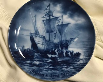 "Collectible Berlin Design ""Columbus Landing in America""  Father's Day 1973  No. 2 Limited Edition 7.5 Collector's plate"