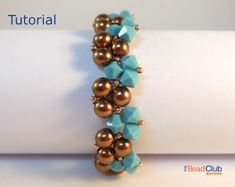 Beaded Bracelet Patterns - Right Angle Weave - Beadweaving Patterns - Bracelet Tutorials - Beading Patterns - Twisty Bracelet